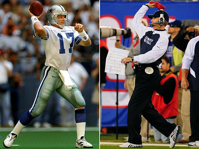 Largely a backup for his entire career, Jason Garrett enjoyed his career highlight in Dallas on Thanksgiving Day 1994. Garrett led the Cowboys to a come-from-behind victory over the Packers, finishing with 311 passing yards and two touchdowns. When he was named the interim head coach of the Cowboys on Nov. 8, 2010, Garrett piloted a similarly shocking upset: a 33-20 victory over the favored New York Giants at the Meadowlands. In January 2011, he was officially named head coach of the Cowboys.