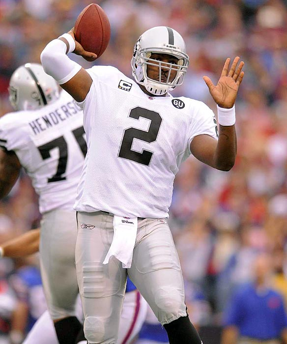 Possibly the biggest bust in league history, Russell never put in the work necessary to be a top QB. His weight reportedly ballooned to more than 300 pounds, and in his final year in Oakland, he completed 48 percent of his passes and threw three touchdowns and 11 interceptions. The price tag: $32 million guaranteed on his $61 million rookie contract. <br>The Raiders released him in May 2010.