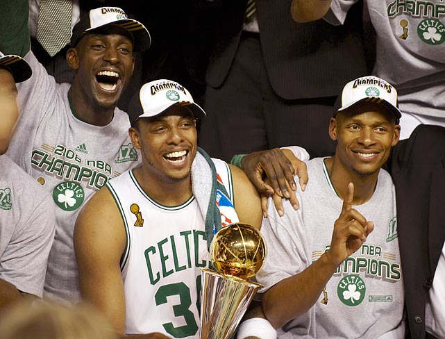 The Celtics' forward joined with Kevin Garnett and Ray Allen to lead Boston to its record 17th championship.