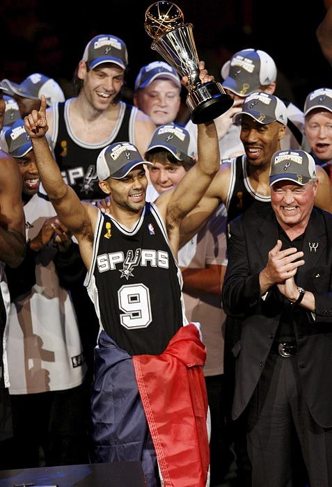 Spurs point guard Parker managed to wrestle a Finals MVP away from teammate Tim Duncan as he led the Spurs to a 4-0 sweep of the Cavaliers. The crafty playmaker averaged 24.5 points while shooting nearly 57 percent from the field. Parker, who's from France, became the first European-born NBA Finals MVP.