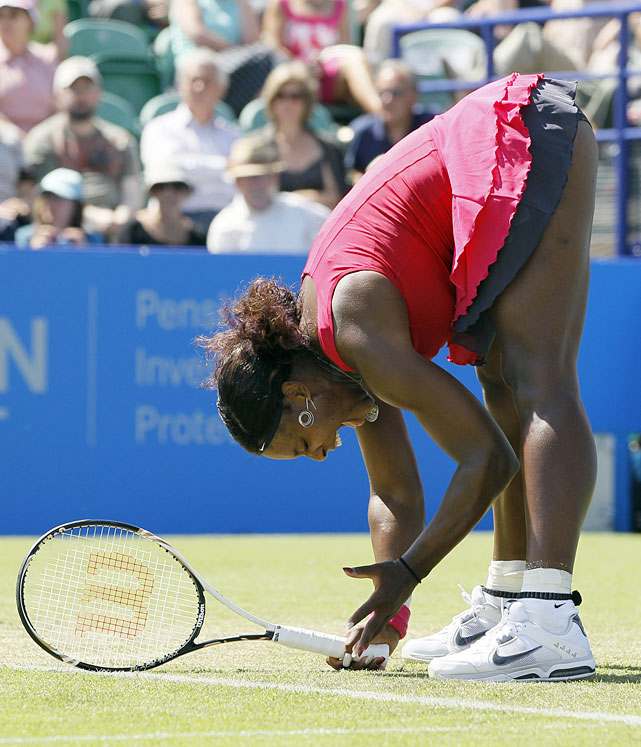 <p>Serena rallied for a 1-6, 6-3, 6-4 victory over Tsvetana Pironkova in her first match in 11-and-a-half months.</p>