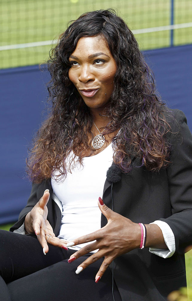 <p>Serena spoke with the media ahead of her first match since winning last year's Wimbledon final. The 13-time Grand Slam champ has battled a foot injury and blood clots in her lungs.</p>