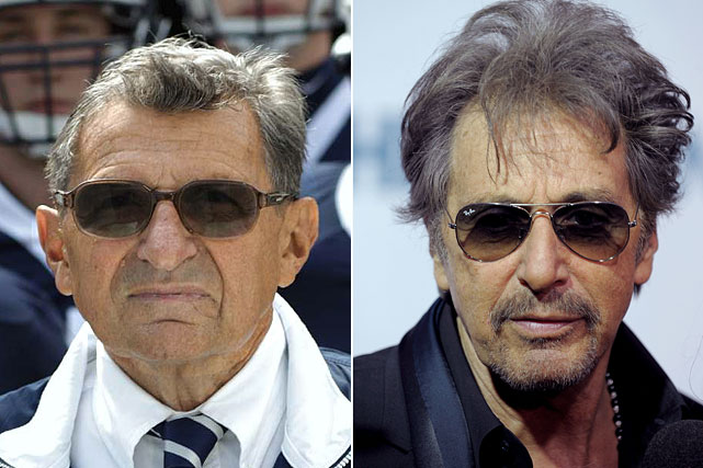 "Al Pacino will play Joe Paterno in a movie about the late Penn State football coach.  Producer Edward R. Pressman confirms Brian De Palma will direct ""Happy Valley,"" the tentative title of the film, based on Joe Posnanski's best-seller ""Paterno."" While Pressman said the plot remains ""under wraps,"" Posnanski's book followed Paterno's final years, as the winningest coach in college football history saw his career end in disgrace in 2011 with the sex abuse scandal involving assistant Jerry Sandusky.  No start or release dates were given for the film.  Here, we take a look at past casting choices to play actual sports figures in cinema."