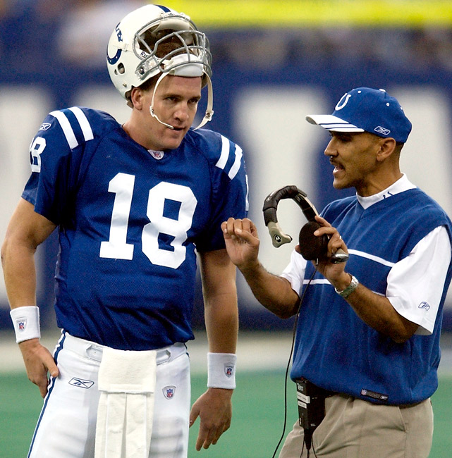 Few have dominated the regular season like Peyton Manning. During his six seasons under Tony Dungy, Manning went an incredible 73-24 (.752) with the Colts, winning 10-plus games each season. Manning even snapped his postseason curse under Dungy, teaming up to beat the Bears in Super Bowl XLI.