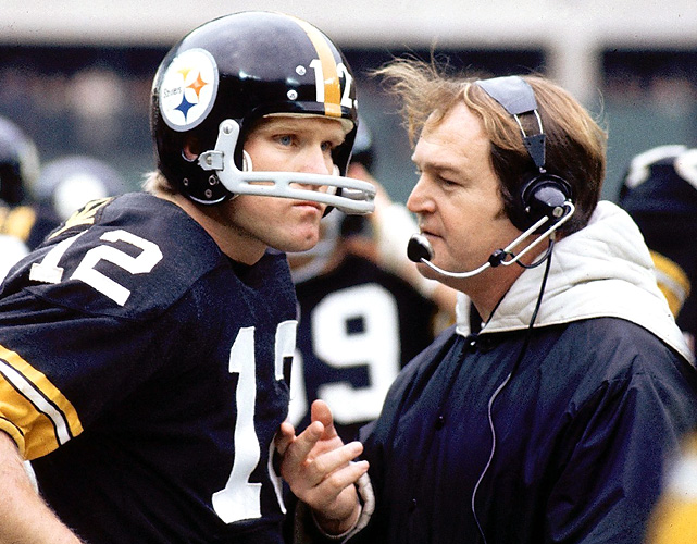 No coach-QB tandem won more Super Bowls than Terry Bradshaw and Chuck Noll in their days with the Steelers in the 1970s. Pittsburgh won four Super Bowls under Bradshaw and Noll, who also totaled 107 regular-season victories over their six-year partnership.