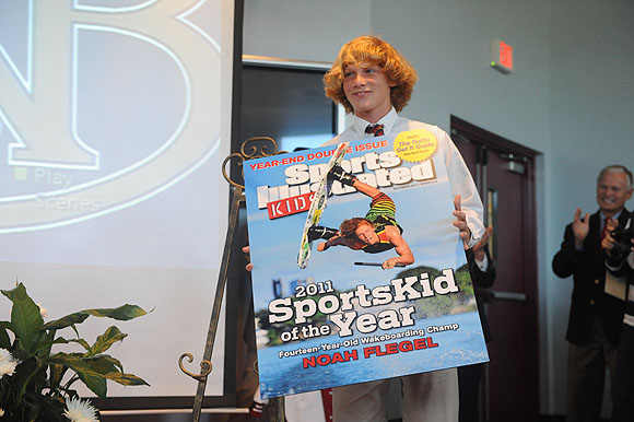 World champion wakeboarder Noah Flegel won our 2011 SportsKid of the Year award. Keep clicking to see Noah flying through the air and showing off his world-class wakeboarding skills.