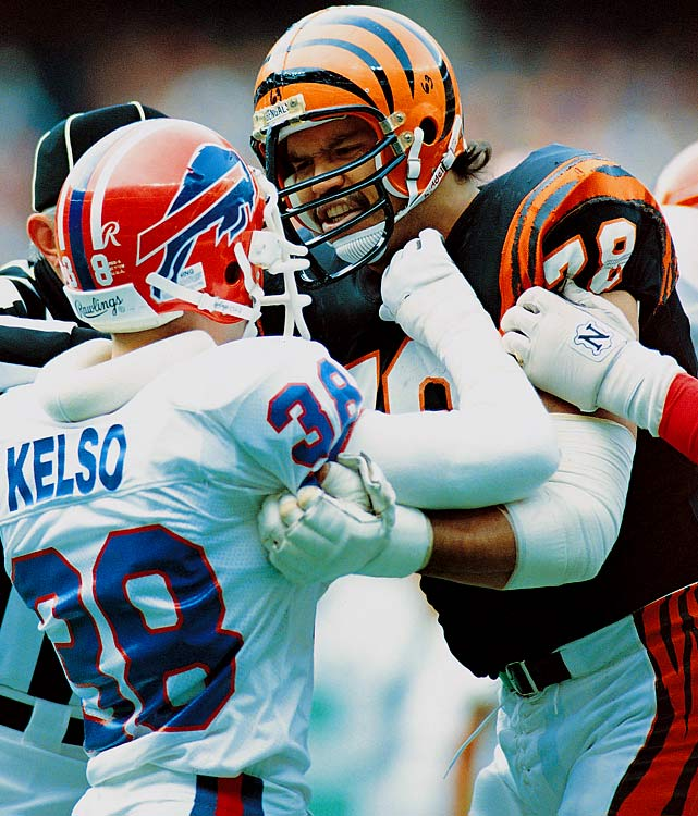 Munoz left his mark as the game's best left tackle and, in the minds of  many, the most dominant offensive lineman in NFL history.   His Credentials:  11-time Pro Bowl selection, 11-time  All-Pro, named to NFL's All-Decade Team for the 1980s, Walter Payton  Man of the Year winner in 1991, member of NFL's 75th anniversary team,  inducted into Hall of Fame in 1998, ranked No. 12 on NFL's top 100  players of all-time list, started 183 career games   Others in Consideration:  Larry Fitzgerald (2004,  Cardinals); Andre Johnson (2003, Texans); Steve McNair (1995, Oilers);  Cortez Kennedy (1990, Seahawks); Barry Sanders (1989, Lions)