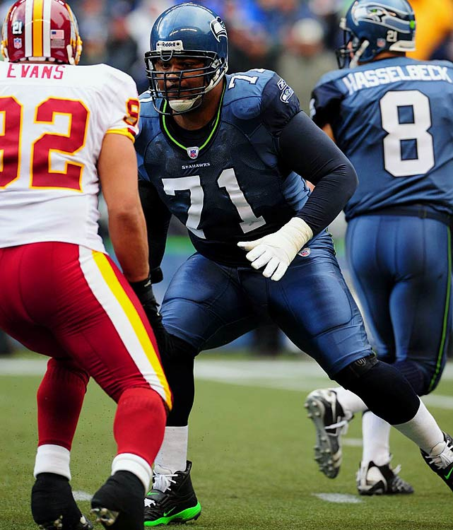 Jones helped pave the way for eight separate 1,000-yard rushing seasons (five by Shaun Alexander alone) and was part  of a terrific turnaround for a once-struggling franchise, as the Seahawks made five straight postseasons from 2003-07, advancing to the  Super Bowl once.   His Credentials:  Nine-time Pro Bowl selection,  seven-time All-Pro, named to NFL's All-Decade Team for the 2000s,  started 180 games, number 71 retired by Seattle Seahawks   Others in Consideration:  Torry Holt (1999, Rams);  Tim Brown (1988, Raiders); Lomas Brown (1985, Lions); James Lofton  (1978; Packers); John Riggins (1971, Jets)