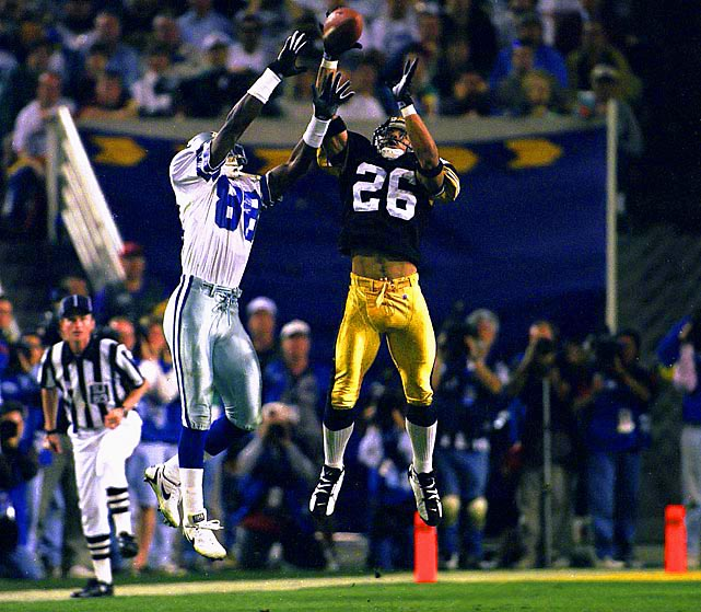 Woodson was a ballhawk and premier athlete. When he was healthy and on the field, Woodson was better than just about every defensive back to play the game.   His Credentials:  11-time Pro Bowl selection,  eight-time All-Pro, Super Bowl XXXV champion, named to NFL's All-Decade  Team for the 1990s, named to NFL's 75th anniversary team, 1993 NFL  Defensive Player of the Year, third all-time in interceptions (71),  ranked No. 41 on NFL's list of 100 greatest players, inducted into Hall  of Fame in 2009   Others in Consideration:  Terrell Suggs (2003,  Ravens); Willie Anderson (1996, Bengals); Jerome Bettis (1993, Rams);  Herman Moore (1991, Lions); Marcus Allen (1982, Raiders); Isiah  Robertson (1971, Rams)