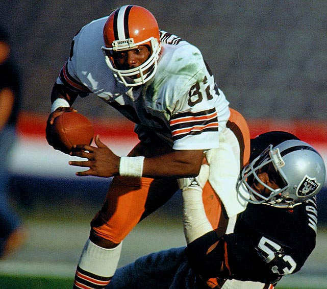 "No matter where he winds up in the record books, ""The Wizard of Oz"" will  forever stand as the groundbreaker for the modern-day tight end  explosion.   His Credentials:  Three-time Pro Bowl selection,  seven-time All-Pro, named to NFL's All-Decade Team for the 1980s; 662  career catches; 47 career touchdowns, played in 198 consecutive games,  inducted into Hall of Fame in 1999   Others in Consideration:  Antoine Winfield (1999, Bills); Ty Law (1995, Patriots); Bruce Armstrong (1987, Patriots)"