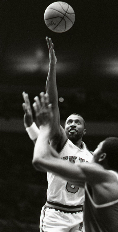 With just .01 seconds left on the clock in a 1990 regular-season game against the Chicago Bulls, New York's Trent Tucker canned a desperation shot off an inbounds pass, giving the Knicks the win. The game was protested by the Bulls and led to an NBA rule change after the 1989-90 season, indicating that no regular shot can be taken from the court if the ball is put into play with less than three-tenths of a second remaining on the game clock.