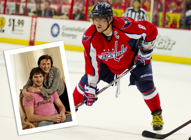 Alex Ovechkin, a two-time NHL MVP with 359 career goals, learned to aim for perfection thanks to his mother, Tatiana.