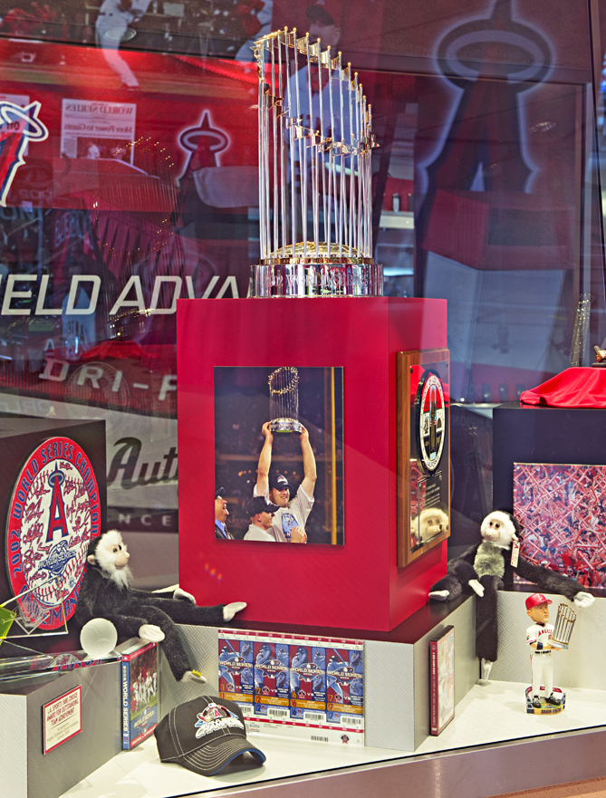 You can see a replica of the 2002 World Series trophy and check out the photos of the players on the walls.