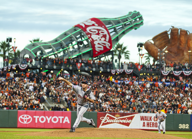 My absolute favorite part of AT&T Park is the giant baseball mitt and Coca Cola bottle slide in the Fan Lot. The symbols of the glove and the soda represent America's pastime. And enjoy a classic San Francisco favorite, the Ghirardelli sundae!