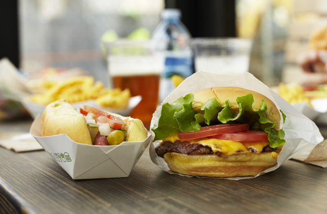 I eat at Shake Shack when I go to Citi Field. The line is really long, but they make one of the best burgers in New York!