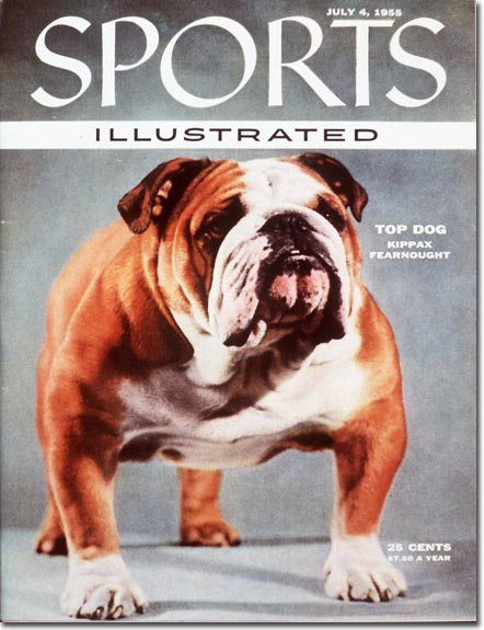 Champion English bulldog Kippax Fearnought graces the magazine's Independence Day cover