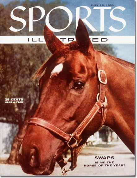 The 1955 Kentucky Derby winner, Swaps, got a close-up for the cover.