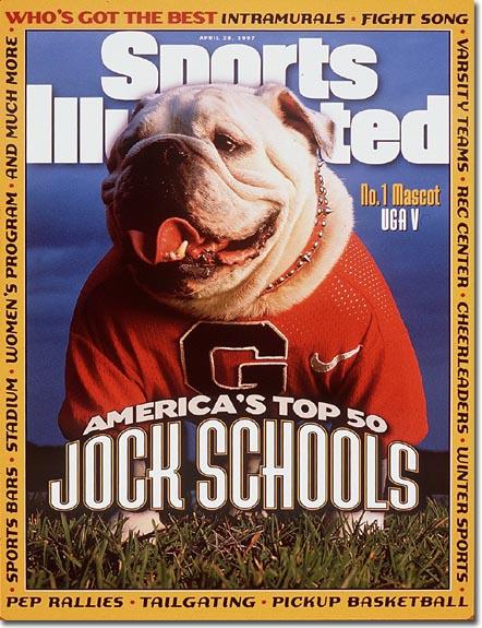 Sports Illustrated named Georgia's UGA V the best college mascot in America.