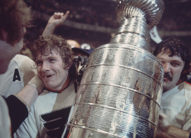 As captain of the Flyers, Bobby Clarke (left) led Philadelphia to its only two Stanley Cups. He played his entire career in Philadelphia, retiring after the 184 season. He was inducted in the Hockey Hall of Fame in 1987, has been an a general manager for the Flyers and is currently the team's Senior Vice President.