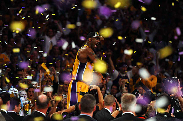 Bryant was a sidekick to Shaquille O'Neal when the Lakers won three championships in the early 2000s. After Shaq left, Bryant led L.A. to two more titles, in 2008--09 and '09--10, winning the Finals MVP both times. In '09 against the Orlando Magic, he averaged 32.4 points and 7.4 assists per game.