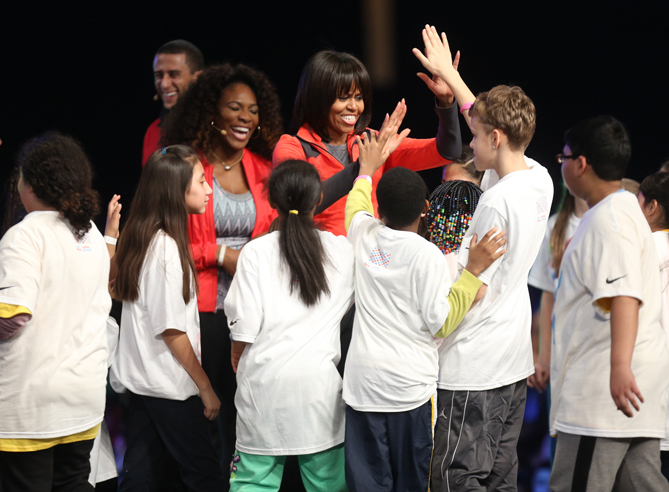 """We need kids stepping up and saying, 'My health is important, [and] I am going to take some ownership,'"" the First Lady told Kid Reporter Grace. ""'Let's become part of Let's Move! Active Schools and take leadership and get a bunch of other kids involved and get parents involved.' Kids can be those change agents, so we want to keep bringing attention to this issue and doing it in a fun and relatable way."""
