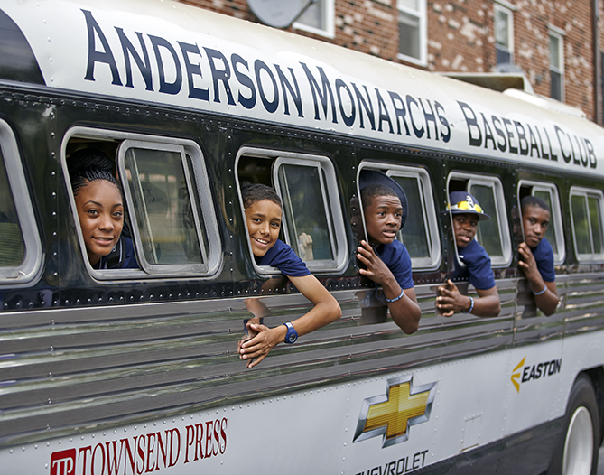 The Monarchs' bus is 68 years old.