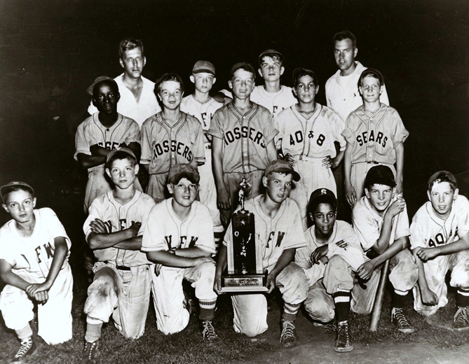 The first Little League World Series is played in Williamsport in 1947. It's won by the Maynard Midgets of Williamsport.