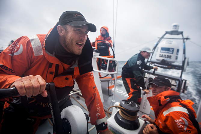 July 15, 2014. Team Alvimedica during the Trans-Atlantic training from Newport to Southampton.
