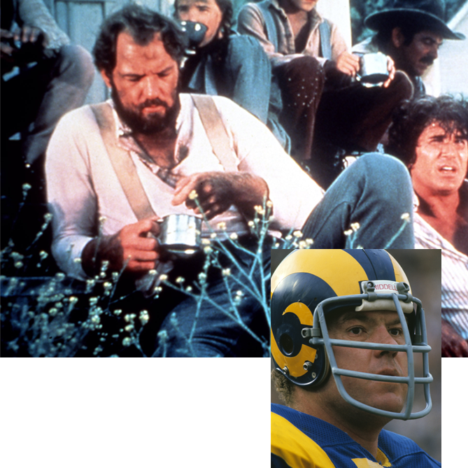 After 15 years as a member of the Fearsome Foursome defensive line for the Los Angeles Rams, the NFL Hall of Famer turned to the small screen and starred in the 1970s show <i>Little House on the Prairie</i>. Olsen also appeared in <i>Father Murphy</i> and <i>Aaron's Way</i>.