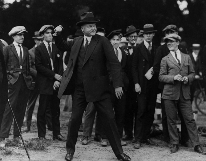 "President Hoover threw four first pitches and attended a total of nine games, six in Washington and three in Philadelphia. Hoover played shortstop as a kid, and was a lifelong baseball fan, calling it ""the greatest of all team sports."" He even complained — like fans do today — about there not being enough scoring in the game. ""I want more runs in baseball itself,"" Hoover said. ""When you were raised on a sandlot, where the scores ran twenty-three to sixty-one, you yearn for something more than a five to two score."""