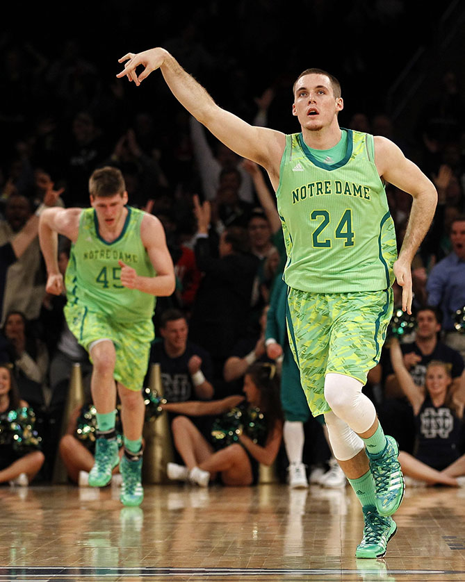 """It looks like somebody had a Shamrock Shake and threw up on them,"" said ESPN commentator Jay Bilas when he saw the Notre Dame Fighting Irish wearing this hideous lime green camo two years ago."
