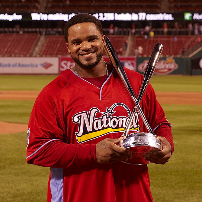 Six-time Home Run Derby participant; two-time champion (also competed with Tigers and Rangers)