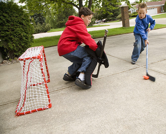 I like to play street hockey in the summer because the ball glides well in that kind of weather. — Henry, 13, California