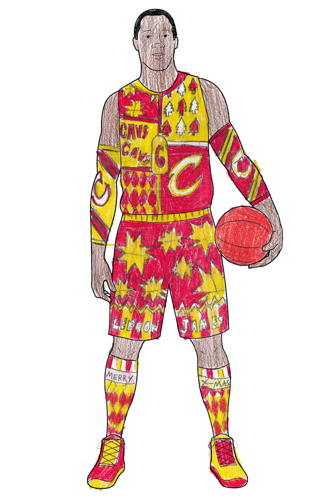 We can totally see the Cavs wearing these new duds this Christmas...                   <p>                   Brett, 13, Wisconsin