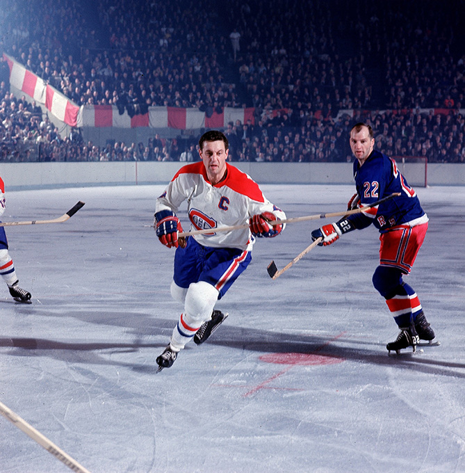 Beliveau against the New York Rangers in the 1967 playoffs.