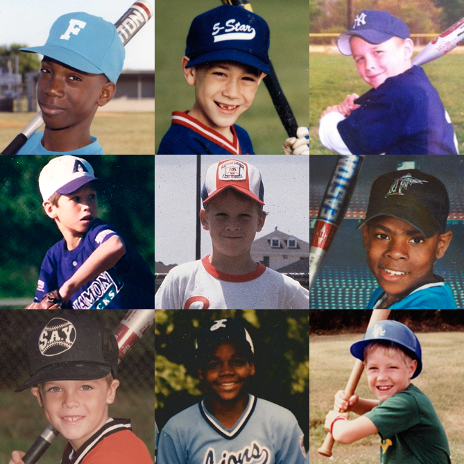Lots of kids have played Little League in its 75-year history, and some of become major leaguers — in baseball as well as other sports. Here are just a few of them: (top row) Andrew McCutchen, Tim Lincecum, Mike Trout; (middle row) Buster Posey, Peyton Manning, Richard Sherman; (bottom row) Zack Greinke, Frank Thomas, R.A. Dickey