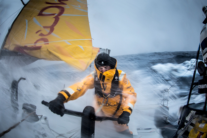 October, 2014. Leg 1 onboard Abu Dhabi Ocean Racing.