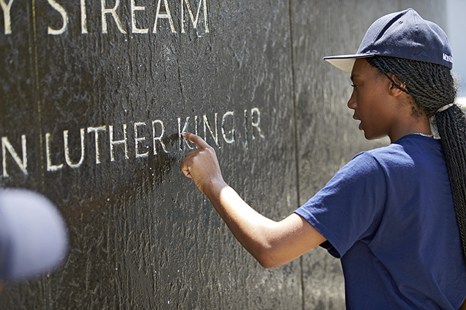 Mo'ne and her teammates learned about Dr. Martin Luther King Jr. in Atlanta.