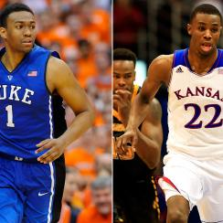 Jabari Parker (L) and Andrew Wiggins are the likely first two picks in the draft, but Finch found some flaws in both of them.