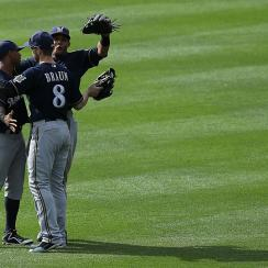 Milwaukee's 49 wins and 5 1/2-game division lead are both tops in the majors this season.