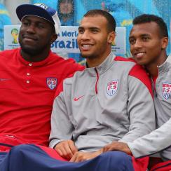 A glimpse into the future? From left, Jozy Altidore, John Brooks and Julian Green make up a potential nucleus for the USA's 2018 World Cup squad.