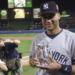 Derek Jeter won the MVP award at the Midsummer Classic in Atlanta in 2000, then added World Series MVP honors that October.