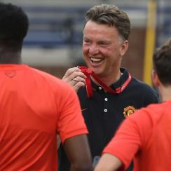 Louis van Gaal, center, has been tasked with restoring greatness at Manchester United.