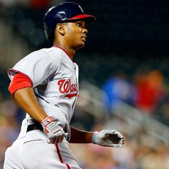 The Nationals' Michael Taylor started off his MLB career on the right note, going 2-for-4 with a home run, 2 RBI and a run scored.