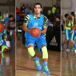 From left to right, Duke's Jahlil Okafor, Kentucky's Trey Lyles and Texas' Myles Turner compete in summer high school tournaments.