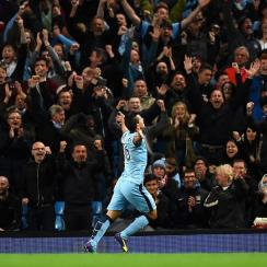 Sergio Agüero scored against Liverpool just seconds after coming on as a substitute in Manchester City's 3-1 win on Monday.