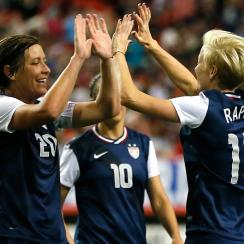 Abby Wambach, left, and Megan Rapinoe, right, have learned their opponents for the CONCACAF Women's World Cup qualifying tournament.