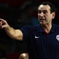 Mike Krzyzewski insists that Duke gets no edge by his coaching the USA basketball team.