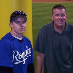 Mike McHugh (left) and his father, John, shared a love of the Kansas City Royals that neither losing nor distance could temper.