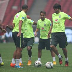 Kaka, right, is back with Brazil after an international absence of more than a year and a half.